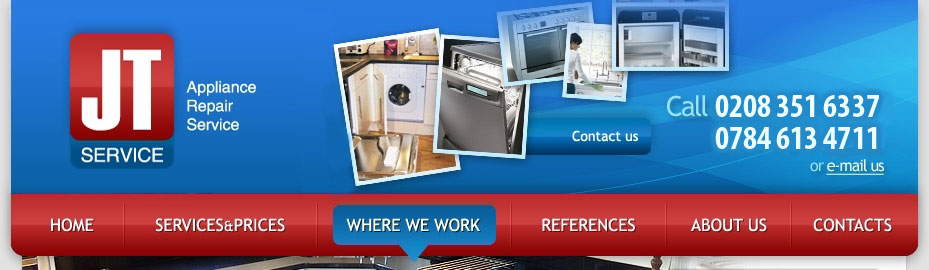 Washing machine, dishwasher and oven repair – JT Service Ltd